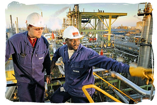 Workers at one of sasol's petrochemical plants in South Africa - Best Jobs in South Africa, South African Jobs Search Engine
