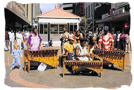 Music in the street - South African Music, a Fusion of South Africa Music Cultures