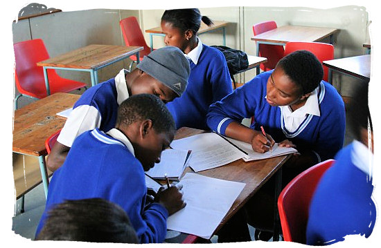 Young Xhosa students at work - Xhosa Tribe, Xhosa Language and Xhosa Culture in South Africa