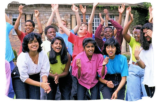 Group of young South African students