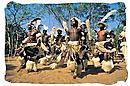 Group of young Zulu warriors