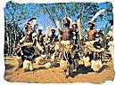 Young Zulus performing a traditional Zulu warrior dance