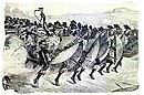Zulu army on the attack