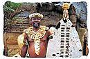 Zulu induna with his shield