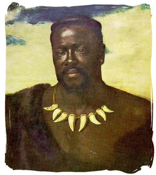A painting of Cetshwayo kaMpande who was the king of the Zulu nation from 1872 to 1879 - The Anglo Zulu war, more about Zulu people and Zulu history