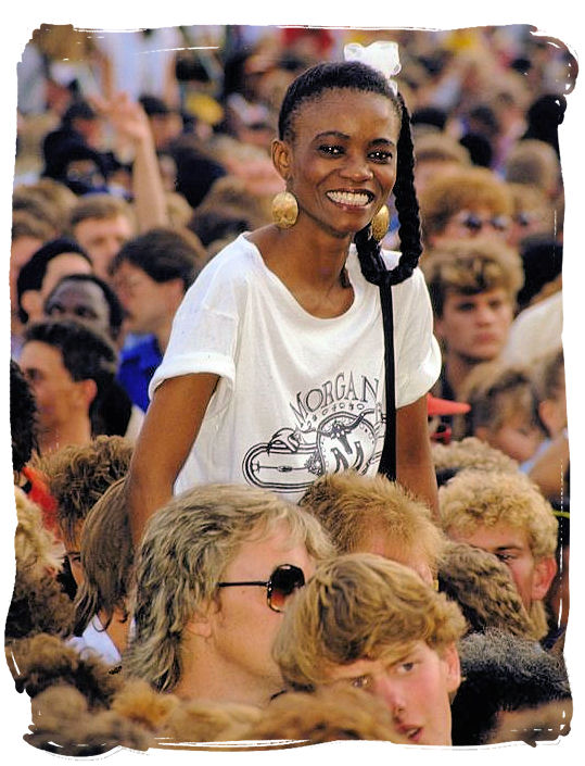 Young lady smiling at the future with confidence