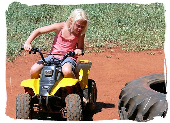 Traverse the beautiful Cape countryside on a quad bike with the whole family - Activity Attractions in Cape Town South Africa and the Cape Peninsula