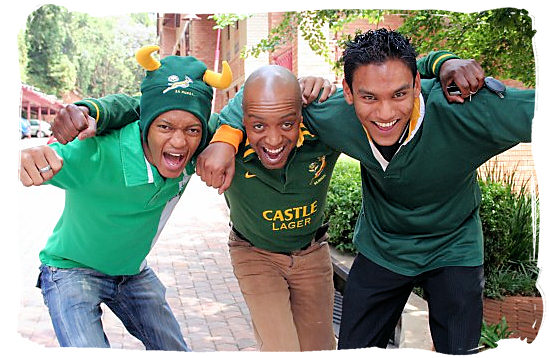 Supporters of the Springboks, South Africa's national rugby team - languages of south africa, south african language