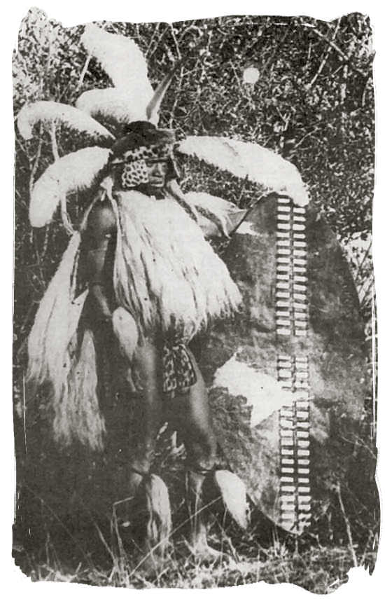 19th century picture of a Zulu warrior, not long before the Witwatersrand gold rush - City of Johannesburg South Africa History, Culture, Museums